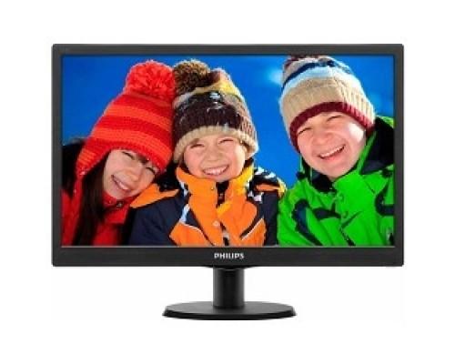 LCD PHILIPS 18.5 193V5LSB2 (10/62) черный TN (LED), 1366x768, 5ms, 250cd/m2, 1 000:1, (700:1), 90/65, D-Sub