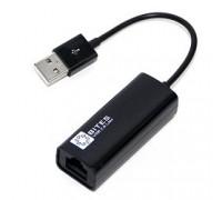 5bites UA2-45-02BK Кабель-адаптер USB2.0 -> RJ45 10/100 Мбит/с, 10см