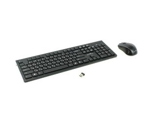 Клавиатура Oklick 250M Black USB + мышь, беспроводная slim 997834