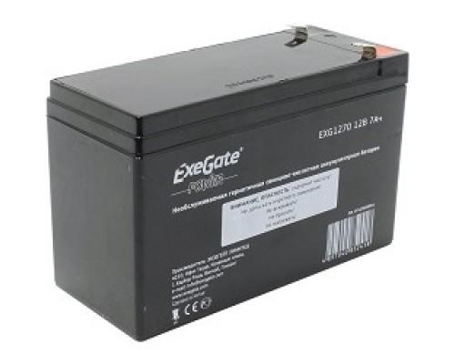 Exegate EP129858RUS Аккумуляторная батарея Exegate EG7-12 / EXG1270 / DTM1207, 12В 7Ач, клеммы F2 (универсальные)