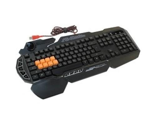 Keyboard A4Tech Bloody B318 Black USB Multimedia Gamer LED (подставка для запястий) 326276