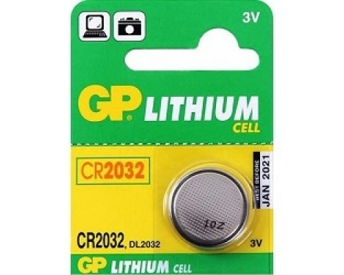 GP CR2032-(7)C1(1 шт. в уп-ке) 08984/12302/03223