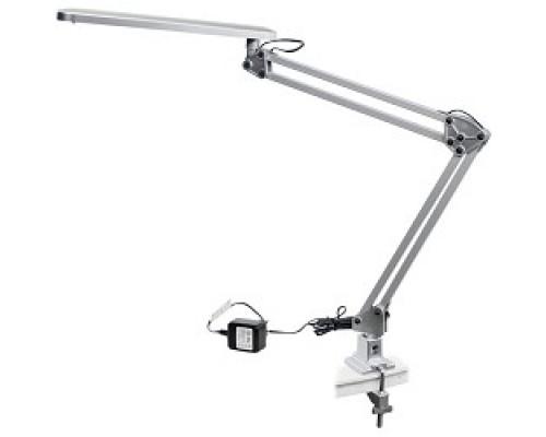 ЭРА Б0008003 Настольный светодиодный светильник NLED-441-7W-S серебро Крепление струбцина, цвет. температура 3000К