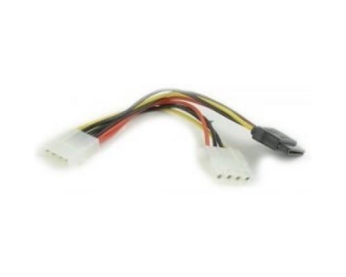 Gembird/Cablexpert питания SATA, 15см, molex 4pin/molex4pin+sata 15pin, на 2 устр. (CC-SATA-PSY2)