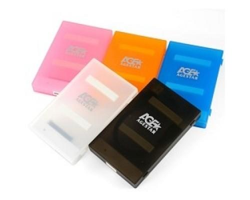 AgeStar 3UBCP1-6G (BLACK) USB 3.0 Внешний корпус 2.5 SATA HDD/SSD AgeStar 3UBCP1-6G (BLACK) USB 3.0, пластик, черный, безвинтовая конструкция