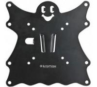 Kromax CASPER-200 black, Кр. стал. наст. для TV 15-40, max 30 кг, 0 ст св., от ст. 21 мм, max VESA 200x200 мм.