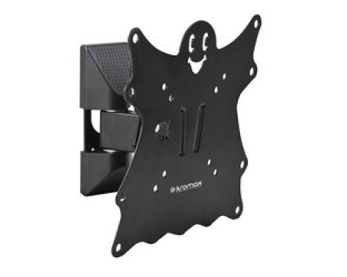 Kromax CASPER-202 black, Кр. стал. наст. для TV 20-43, max 30 кг, 3 ст св., нак. +5°-15°, пов. 90°, от ст. 57-110 мм, max VESA 200x200 мм.