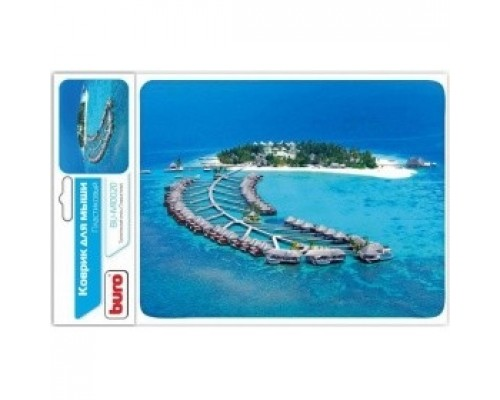 Коврик для мыши Buro BU-M10020 рисунок/тропический отель 291841