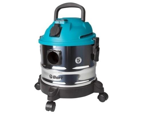 Bort BSS-1015 Пылесос строительный 98297041 1250 Вт, вместимость 15 л, 58 л/сек, 5 кг, набор аксессуаров 10 шт