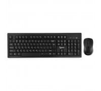 + мышь Gembird KBS-8002 беспроводной комплект, 2.4ГГц, черный, 104 клавиши+2 кнопки+колесо кнопка, 1000DPI, батарейки в комплекте
