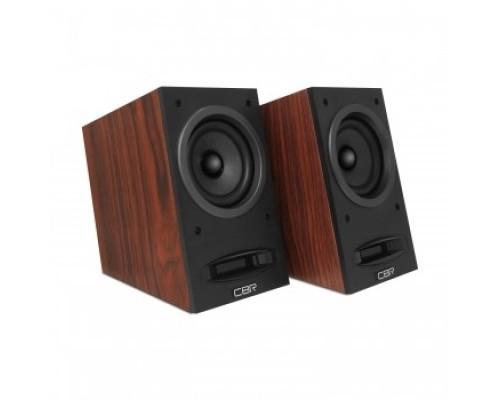 CBR CMS 590 Brown, Акустическая система 2.0, питание USB, 2х5 Вт (10 Вт RMS), материал корпуса MDF, 3.5 мм линейный стереовход, регул. громк., выход на наушники, длина кабеля 1,5 м, цвет коричневый