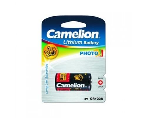 Camelion CR123A BL-1 (CR123A-BP1, батарейка фото,3В) (1 шт. в уп-ке)