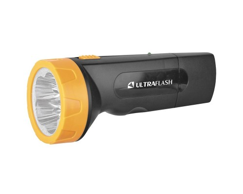 Ultraflash LED3827 (фонарь аккум 220В, черн /желт, 5 LED, SLA, пластик, коробка)