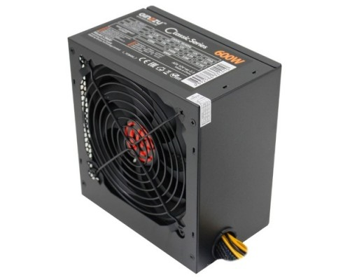Ginzzu CB600 12CM black,24+4p,2 PCI-E(6+2), 4*SATA,3*IDE,оплетка MB, кабель питания