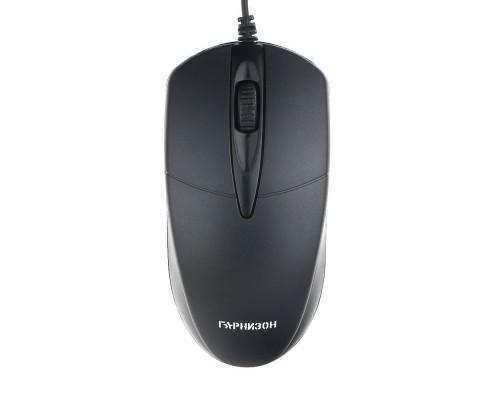Гарнизон Мышь GM-220, USB, чип- Х, черный,1000 DPI, 2кн.+колесо-кнопка