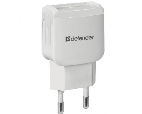Defender Сетевой адаптер 2xUSB, 2.1А , белый (UPA-22) (83580)