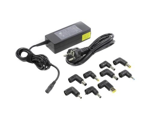 ORIENT PU-A90W, Универсальный блок питания, мощность 90Вт, U вых: 15/16/18/19/20/22/24В, автоматическое переключение, 9 сменных коннекторов (8+Lenovo), порт USB 1А, защита от КЗ и перегрузки (30458)