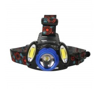 Ultraflash E1334 (фонарь налоб акк 3,7В, синий /черный, 3LED, 4 Ватт, фокус, 2 ак 4 реж, метал,