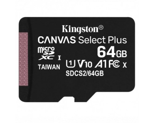 Micro SecureDigital 64Gb Kingston SDCS2/64GBSP MicroSDHC Class 10 UHS-I