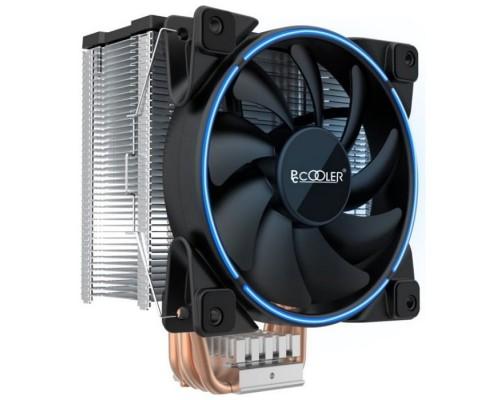 PCCooler GI-X5B V2 Кулер S775/115X/20XX/AM2/AM3/AM4 (24 шт/кор, TDP 160W, вент-р 120мм с PWM, Blue LED FAN, 5 тепловых трубок 6мм, 1000-1800RPM, 26.5dBa)