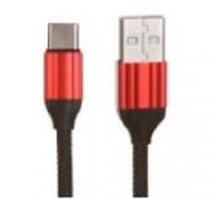 LDNIO LD_B4634 LS431/ USB кабель Type-C/ 1m/ 2.4A/ медь: 86 жил/ Нейлоновая оплетка/ Red