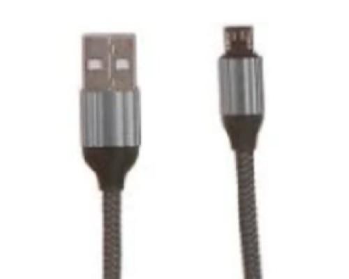 LDNIO LD_B4571 LS432/ USB кабель Micro/ 2m/ 2.4A/ медь: 120 жил/ Нейлоновая оплетка/ Gray