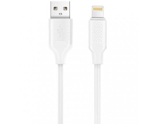 Harper USB A - 8-pin, BCH-521 White ( (ПВХ) для зарядки и синхронизации, 2A, Быстрая зарядка.)