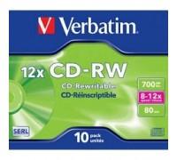 Verbatim CD-RW 700Mb 12x DataLife+ (10шт) (43148) 1/10