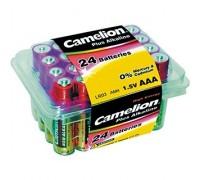 Camelion LR03 Plus Alkaline PB-24 (LR03-PB24, батарейка,1.5В) (24 шт. в уп-ке) 1/24