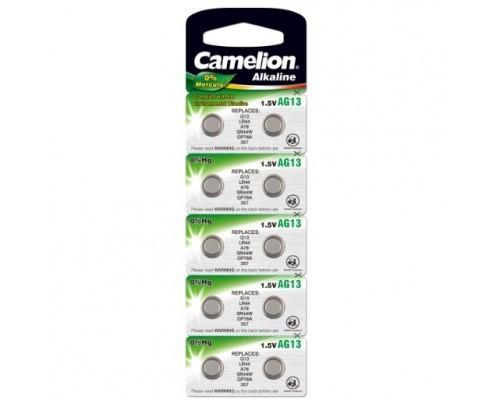 Camelion G13 BL-10 Mercury Free (AG13-BP10(0%Hg), 357A/LR44/A76 батарейка для часов) (10 шт. в уп-ке) 1/10