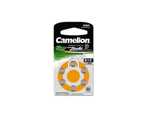 Camelion ZA13 BL-6 Mercury Free (A13-BP6(0%Hg), батарейка для слуховых аппаратов, 1.4 V,280mAh) (6 шт. в уп-ке) 1/6