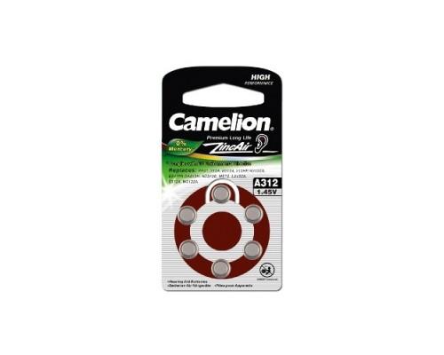 Camelion ZA312 BL-6 Mercury Free (A312-BP6(0%Hg), батарейка для слуховых аппаратов, 1.4 V,170mAh) 1/6